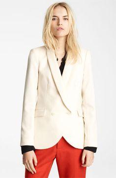 ++ shawl collar blazer