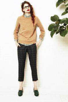 Knit, Shirt, Plaid Pants, ronherman, 2013AW