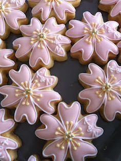 Japanese Cherry Blossoms cookies