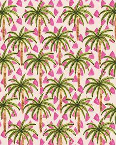Palm Trees II. #pattern #illustration