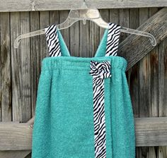 Child's Towel Wrap Spa Wrap. For this summer by the pool!