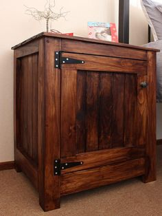 Pine tongue and groove is inexpensive and allows you to make affordable projects with timber that are rustic and practical. This bedside cabinet is easy to make and won't cost you a fortune at around R450 for the materials. - See more at: http://www.home-dzine.co.za/diy-1/diy-bedside-table.html#sthash.0MGxqDY8.dpuf