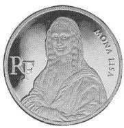 Монета: 500 Francs (Bicentennial of the Louvre - Mona Lisa) (Франция) (1982-2000 Нумизматический продукт) WCC:km1024