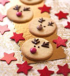 """Biscuit de Noël : des sablés façon """"renne de Noël"""""""