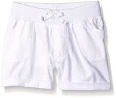 Kidtopia Girls' Printed-Solid Short with Rib Waistband * Find out more details @…