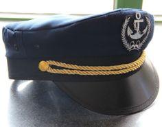 NEW NAVY MEN WOMEN Captain Cap Captains Hat, CAPTAIN'S HAT SEA Yacht
