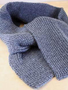 2f94bc29d67d Bonjour à tous, Aujourd hui je vous présente un projet simple et chic  une  écharpe couleur bleu jean qui s accordera aussi bien avec un costume  qu avec une ...