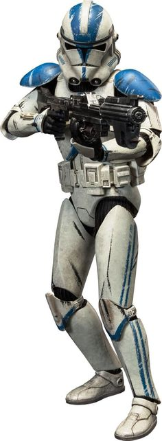 Clone Trooper Tup C 5385: He was the first clone to malfunction and prematurely executed Order 66. After he killed a Jedi he was taken to Kamino where his friend Fives tried to save him, but in the end Tup died from the malfunction. Fives did some detective work and found out about Order 66. When he tried to tell Rex and Anakin they thought he was malfunctioning like Tup had. Fives was considered dangerous and defective. In the end, Fives was shot by Commander Fox.