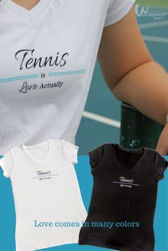 It's not just the sport and high of the match; for you, tennis is Love Actually! Find more here: http://wristpectsport.com/collections/womens-v-neck/products/tennis-is-love-actually