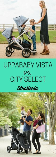 This in-depth comparison looks at the UPPAbaby VISTA and Baby Jogger City Select convertible strollers: features, pros/cons, car seat compatibility and more. Baby Stroller Brands, Baby Girl Strollers, Double Baby Strollers, Best Twin Strollers, City Select Double Stroller, Baby Jogger City Select, Best Double Stroller, City Stroller, Bugaboo Stroller
