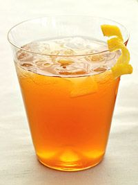 Earl grey glory  Ingredients  2 cups earl grey tea, chilled  1/2 cup Simple Syrup  6 tablespoons fresh lemon juice, plus curled strips of peel for ganish  1/4 cup rum  Directions