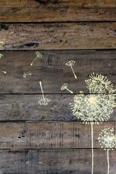 No need to pick up a pallet design at the next craft fair—you can make your own in an afternoon. Use a stencil for a fun dandelion design like this one, or try going freehand for fun word plays like these.  Get the tutorial here.   - Redbook.com