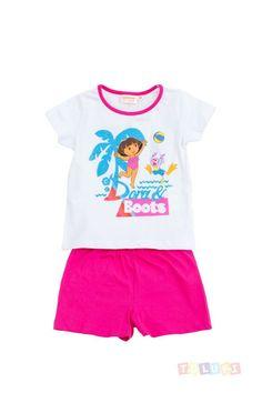 Pyjama Fille Dora à la plage http://www.toluki.com/prod.php?id=360 #Toluki #enfant
