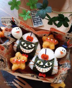 Japanese Rice, Halloween Desserts, Bento, Food Art, Sushi, Picnic, Lunch Box, Dessert Recipes, Kawaii