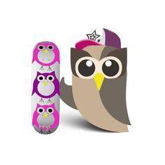 of coarse an owl skateboard. whn i designed bree's room i thought i was being original. who woulda known owl's would become the buzz