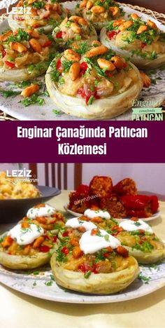 Eggplant Frying in Artichoke Bowl Eggplant With Garlic Sauce, Eggplant Fries, Turkish Recipes, Italian Recipes, Ethnic Recipes, Lunch Recipes, Vegan Recipes, Dinner Recipes, Eggplant Recipes