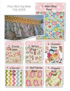 Made to Order Top Band Valance - Flirty Skirt /  Valance / Window Treatment -Several Design Options - PETAL Dots Collection by DrapeStudio on Etsy