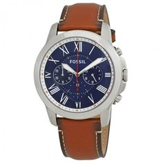 Fossil Grant Chronograph Navy Blue Dial Men's Watch FS5210