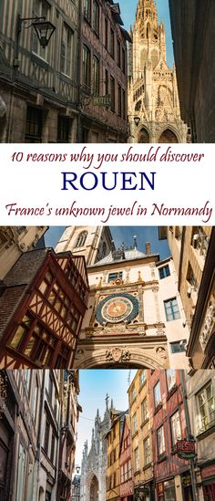 Things to Do in Rouen, Normandy Discover Rouen, the unknown jewel of 10 things not to miss inDiscover Rouen, the unknown jewel of 10 things not to miss in Europe Travel Tips, European Travel, Places To Travel, Places To Visit, Budget Travel, Weekend France, Belle France, Normandy France, Travel Rewards
