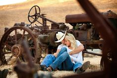 A country engagement photo shoot… adorable