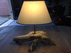lampada legno marino