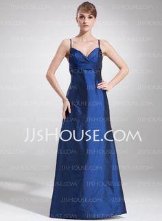 Bridesmaid Dresses - $105.99 - Empire V-neck Floor-Length Taffeta Bridesmaid Dress With Ruffle (007004263) http://jjshouse.com/Empire-V-Neck-Floor-Length-Taffeta-Bridesmaid-Dress-With-Ruffle-007004263-g4263