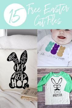 Free Easter Cut Files from around the web. Use with your Silhouette or Cricut machine.