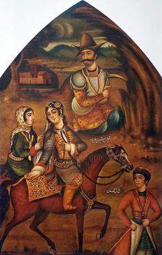 Shirin and Farhad - Persia, Zand. By Muhammad Zaman III