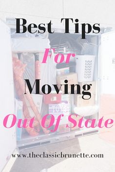 Tips For Moving Out Of State - How to move out of state without issue, moving tips, how to move with pets, what type of supplies do you need for moving, guide to moving. You are in the right place abo Moving Across Country Tips, Tips For Moving Out, Moving List, Moving House Tips, Moving Cross Country, Moving Checklist, Moving Day, Packing Tips For Moving, Moving Planner