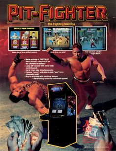 Pit-Fighter, found on Midway Arcade Origins on PS3 and X360. If there was a Mystery Science Theater 3000 for video games, this game would feature prominently.