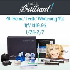 Smile Brilliant! At Home Teeth Whitening Kit Giveaway