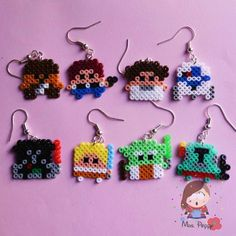 Orecchini mini Hama Beads star wars. Star wars mini hama beads earrings