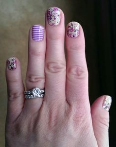 Jamberry nails - orchid skinny and sweet symphony kendrasheehan.jamberrynails.net