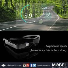 Augmented reality glasses for cyclists in the making. #Crowdfunding