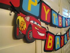 Disney Cars Happy Birthday Banner