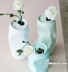 Great vases from recycled!