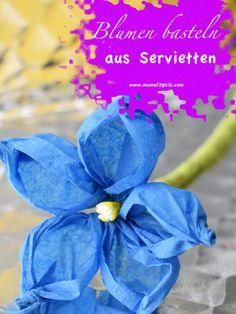 So einfach geht kreativ sein: In meiner Schritt für Schritt Anleitung zeige ich dir, wie du zauberhafte Blumen basteln kannst. Mit wenig Material kannst du diese tollen Blumen einfach selber machen!
