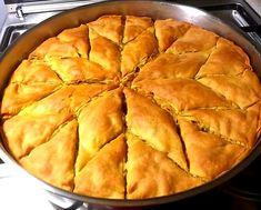 """Η Συνταγή είναι από κ.  Laureta Cenkaj Hamataj   – """"ΟΙ ΧΡΥΣΟΧΕΡΕΣ / ΗΔΕΣ"""".    Υλικά   για τη ζύμη   για τα φύλΛα   500γραμμάρια αλεύρι για όλες τις χρήσεις 250 μλ Νερό 4 κουταλες της σούπας Dessert Recipes, Desserts, Apple Pie, Food, Tailgate Desserts, Deserts, Essen, Postres, Meals"""