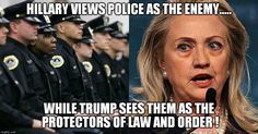 Trump protector of law and order, Hillary protector of Criminals and Thugs | OBAMA CARTOONS