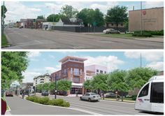 Before & After. ASLA 2009 Honor Award, Analysis and Planning Category. Urban Corridor Planning — City of Houston, Houston, TX. Firm: The Planning Partnership Limited. (Photo: The Planning Partnership Limited)