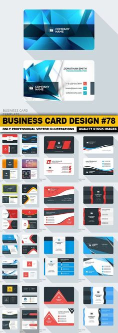 Business Card Design 78 25 Vector