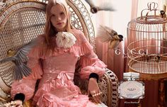 Gucci Bamboo fragrance campaign starring Polina Oganicheva