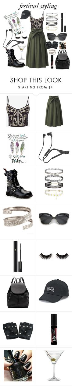 """festival styling"" by anabelisstyle ❤ liked on Polyvore featuring Alexander McQueen, Uniqlo, Skullcandy, Demonia, Lancôme, Witchery, SO, Charlotte Russe and Nordstrom"