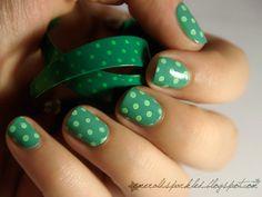 . #nail #art #nails #inspiration #polka #dots