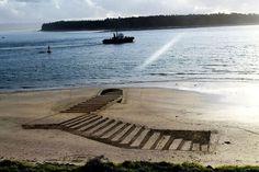 Beach art, Jamie Harkins
