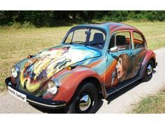 VW Käfer / Beetle: Nostalgischer Käfer im Hippie-Look! #vwbeetle #woodstock
