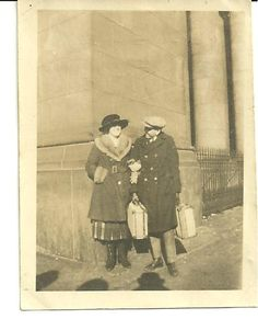 vintage shot of travelers | Vintage Photo Snap Shot Couple in Travel Clothes Posing with Suitcases ... #GrandCentralNYC