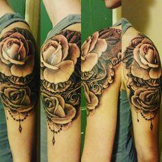 Start of sleeve. #tattoo #sleeve #roses