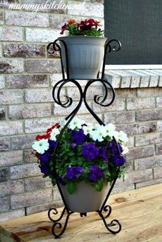 With so many beautiful perennials and annuals to choose from, it can be difficult to decide which to get! Bring a little color to your yard with a planter. Items available at Walmart.