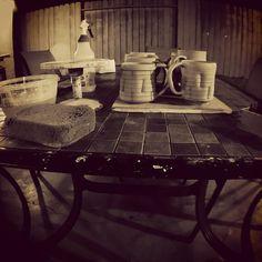 I didn't choose the muglife.  The muglife chose me.  _______________________________________________________ #muglife #summerpatiostudio ##ceramics #clay #pottery #pots #wip #greenware #leatherhard #process #artist #ryanreichceramics #mug #mugs #mugshotmonday #beer #beermug